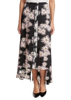 Elizabeth and James Mae Floral High-Low Midi Skirt