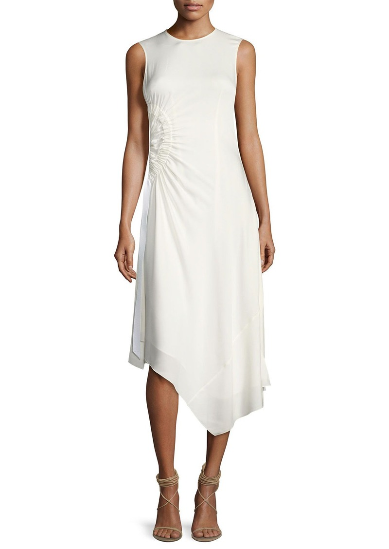 Elizabeth and James Martha Sleeveless Side Ruching Midi Dress