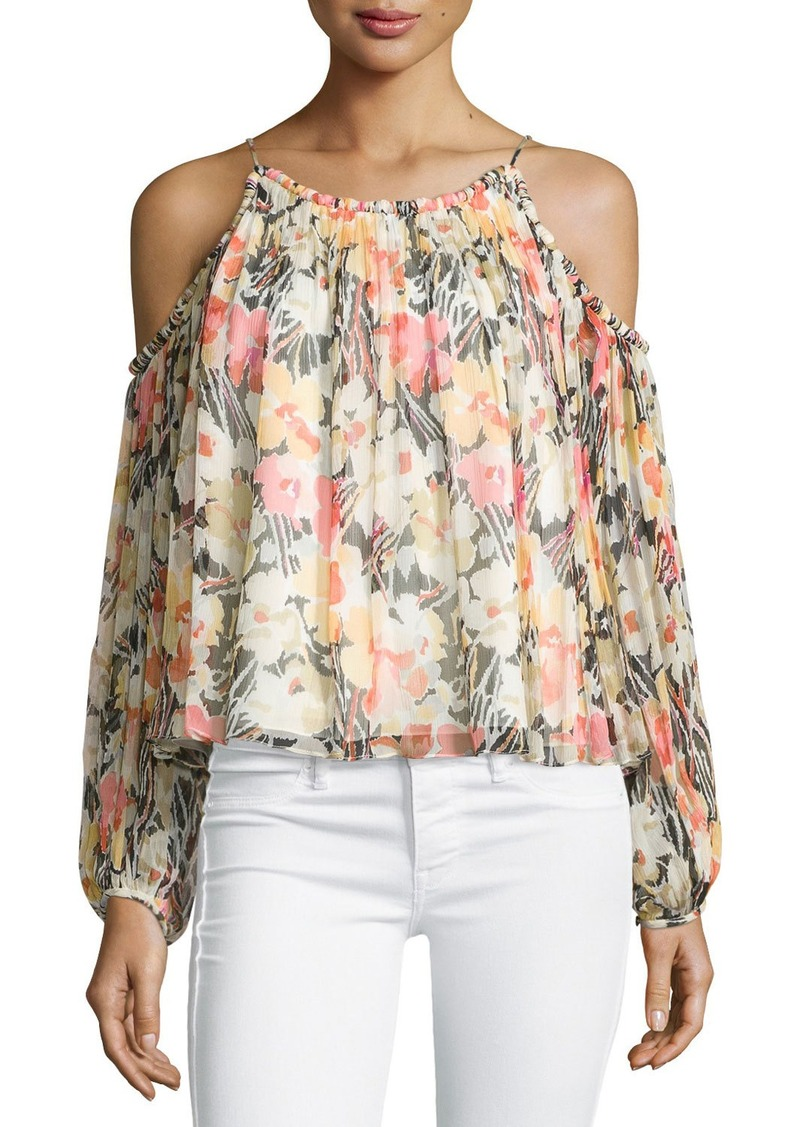 Elizabeth and James Maylin Cold-Shoulder Floral-Print Blouse