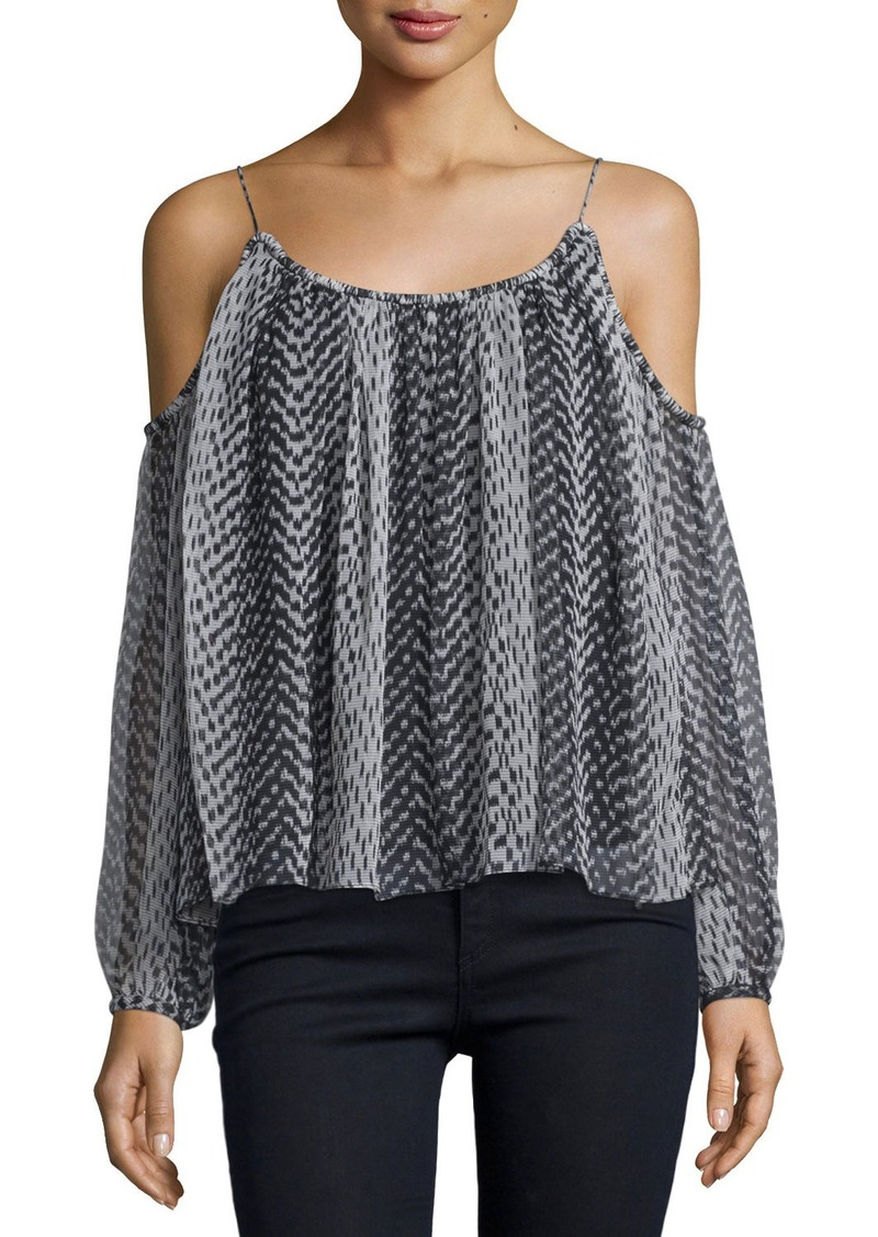 Elizabeth and James Maylin Cold-Shoulder Ikat Blouse