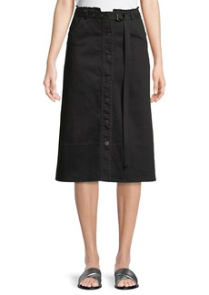 Elizabeth and James Merritt Slub Denim A-Line Skirt
