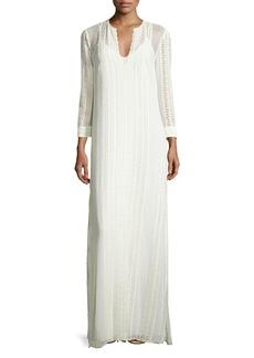 Elizabeth and James Mia Silk Lace-Trim Maxi Dress