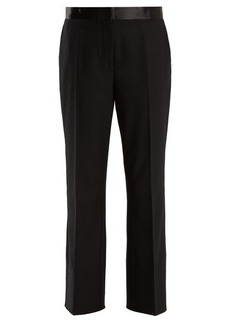 Elizabeth And James Mira cropped flared-leg twill trousers