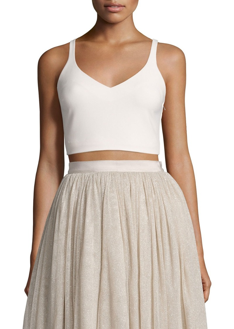 Elizabeth and James Nia Sleeveless Lace-Up Crop Top