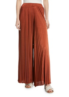 Elizabeth and James Noble Sunburst Pleated Wide-Leg Pants