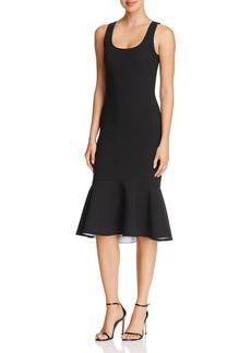 Elizabeth and James Nolan Ruffled-Hem Midi Dress