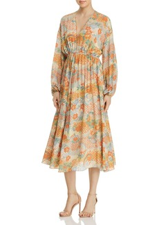 Elizabeth and James Norma Printed Silk Dress
