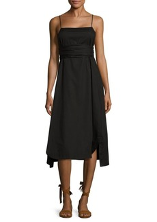 Elizabeth and James Oak Tie Poplin Dress
