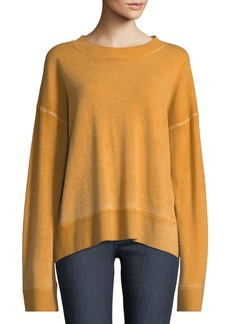 Elizabeth and James Oliver Crewneck Dropped-Shoulder Cashmere Pullover Sweater