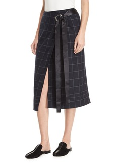 Elizabeth and James Omar Plaid Wrap Skirt