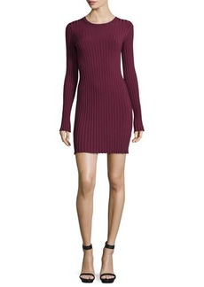 Elizabeth and James Penny Long-Sleeve Ribbed Bodycon Dress