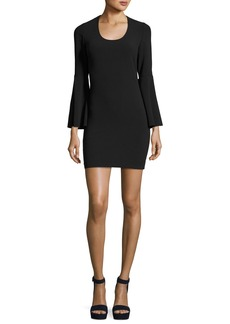 Elizabeth and James Philippa Scoop-Neck Bell-Sleeve Ponte Sheath Dress