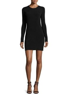 Elizabeth and James Priscilla Long-Sleeve Cutout Ribbed Mini Dress