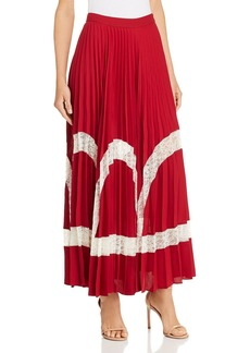 Elizabeth and James Regina Lace-Inset Maxi Skirt