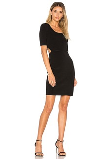 Elizabeth and James Ribbed Cut Out Dress in Black. - size M (also in S,XS)