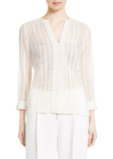 Elizabeth and James Riley Embroidered Silk Blouse
