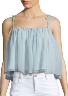 Elizabeth and James Ruched Solid Top