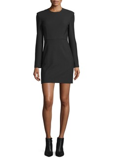 Elizabeth and James Rudi Long-Sleeve Crepe Open-Back Sheath Dress