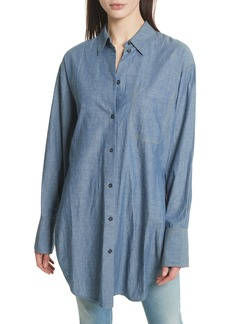 Elizabeth and James Ryder Oversize Denim Shirt