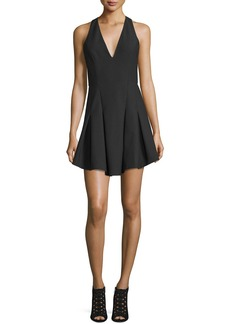 Elizabeth and James Sabine Sleeveless Crepe Fit-and-Flare Dress