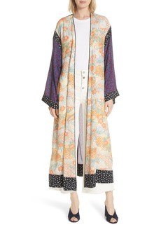 Elizabeth and James Shawna Floral Patchwork Silk Kimono