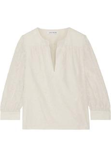Elizabeth and James Shelley fil coupé silk and cotton-blend blouse