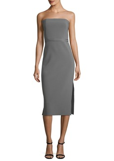 Elizabeth and James Sierra Strapless Fitted Sheath Crepe Dress