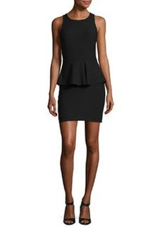 Elizabeth and James Sleeveless Ponte Peplum Dress