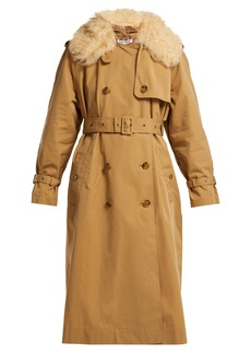Elizabeth And James Stratford shearling-trimmed trench coat