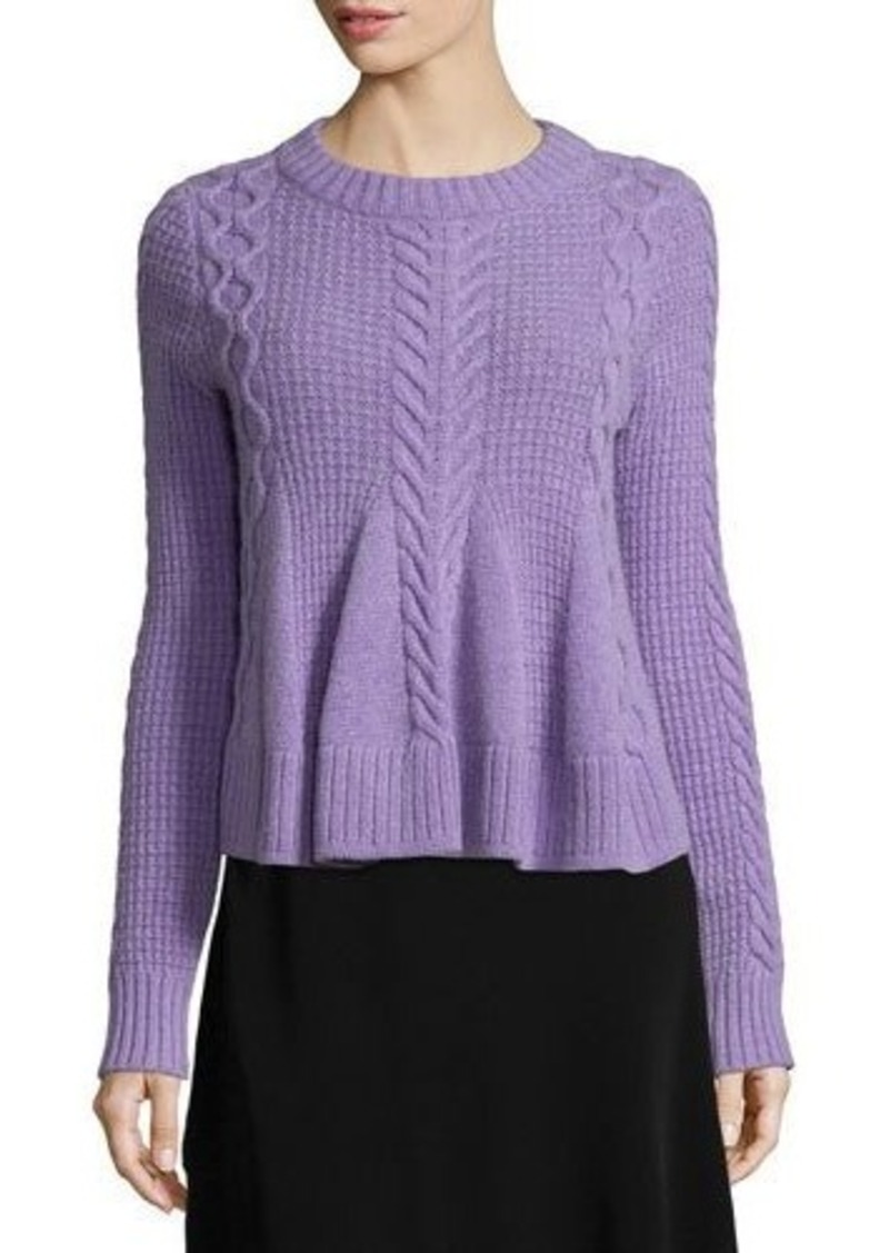 Elizabeth and James Swing Long-Sleeve Pullover Sweater