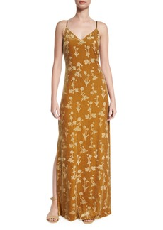 Elizabeth and James Valerie Floral Velour Maxi Dress