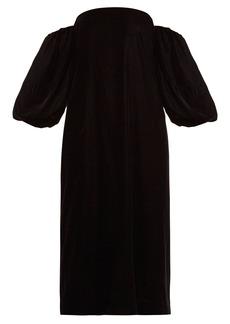 Elizabeth And James Vanna off-the-shoulder velvet dress