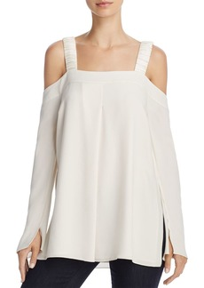 Elizabeth and James Vera Cold-Shoulder Ruched-Strap Top