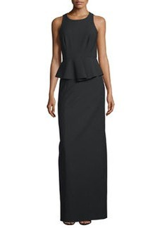 Elizabeth and James Vivie Sleeveless Peplum Gown