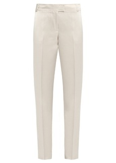 Elizabeth And James Wallace slim-leg duchess-satin trousers