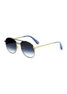 Elizabeth and James Watts Aviator Metal Sunglasses