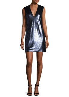 Elizabeth and James Wesley Sequined V-Neck Shift Dress