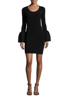 Elizabeth and James Willomina Bell Sleeve Textured Dress