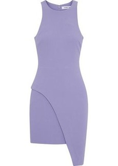 Elizabeth And James Woman Aaron Asymmetric Cady Mini Dress Lavender