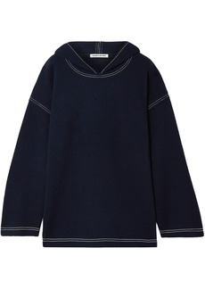 Elizabeth And James Woman Benson Wool-felt Hoodie Navy