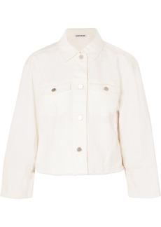 Elizabeth And James Woman Branson Cropped Denim Jacket White