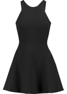 Elizabeth And James Woman Britt Cutout Twill Mini Dress Black