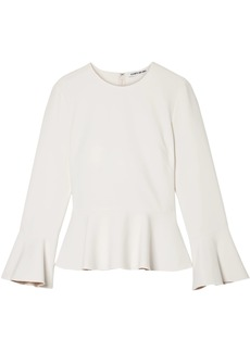 Elizabeth And James Woman Cady Peplum Top Off-white