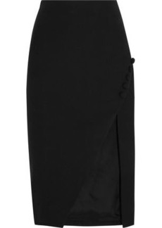 Elizabeth And James Woman Clementina Split Crepe Skirt Black