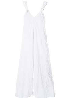 Elizabeth And James Woman Denali Knotted Embroidered Cotton Maxi Dress White