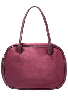 Elizabeth And James Woman Dorina Leather-trimmed Satin Tote Burgundy