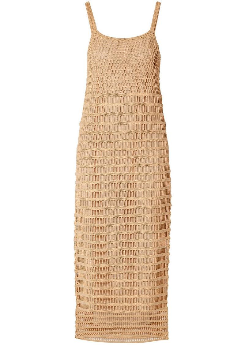 Elizabeth And James Woman Edna Crocheted Cotton Midi Dress Sand