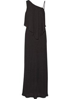 Elizabeth And James Woman Ellie Draped Chiffon Maxi Dress Black