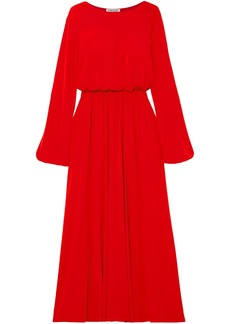Elizabeth And James Woman Evy Gathered Stretch-jersey Maxi Dress Red