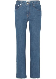 Elizabeth And James Woman Holden Two-tone High-rise Straight-leg Jeans Mid Denim